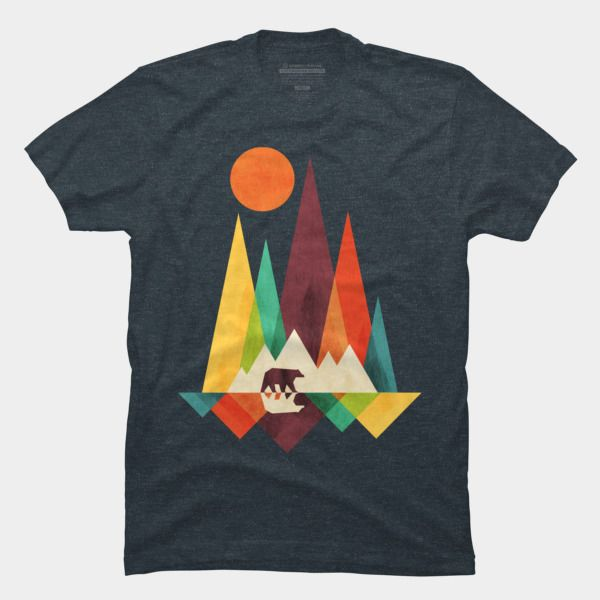 Mountain bear t shirt by radiomode design by humans for Custom t shirt design near me