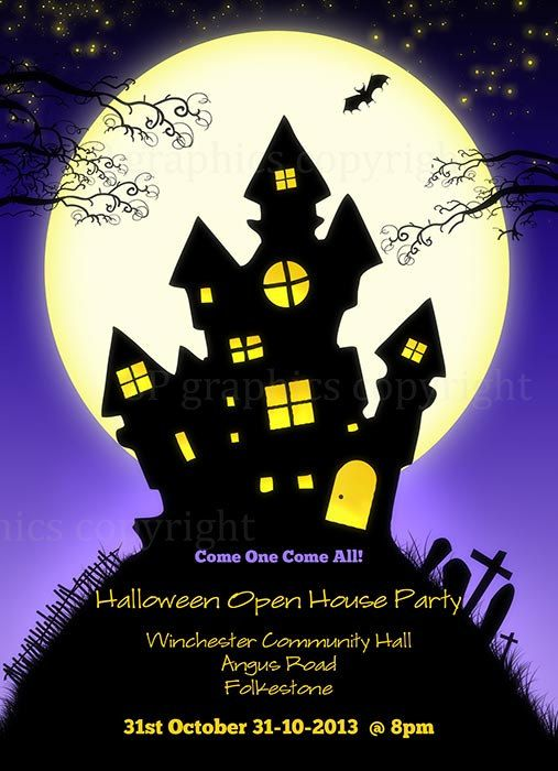 halloween invitation custom halloween party invite by spgraphics