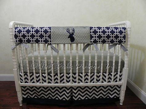 Custom Baby Crib Bedding Set Bentley Boy by BabyBeddingbyJBD