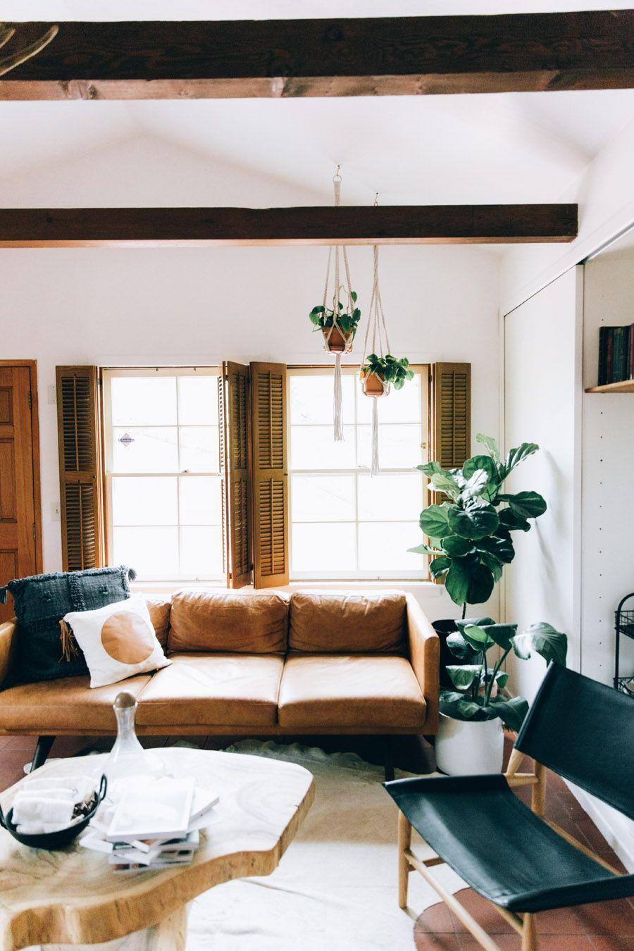Bohemian minimalist living room