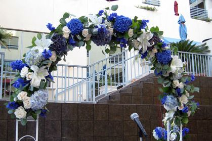 Wedding Arch Decorations Ideas Strapless Wedding Gown Blue