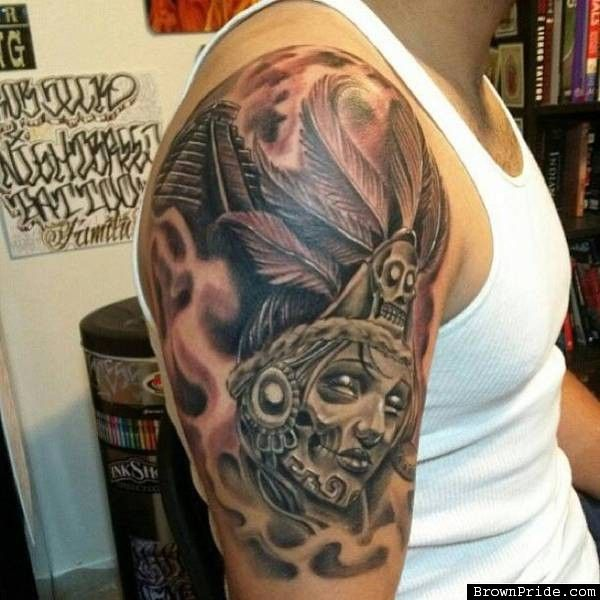 Mexica azteca tattoos tattoos piercings gallery for Mexican pride tattoos
