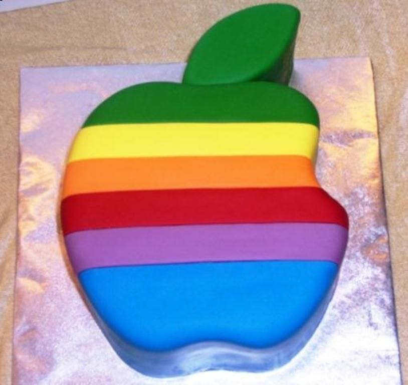 Peachy Apple Mac Computer With Images Computer Cake Mac Cake Cake Funny Birthday Cards Online Fluifree Goldxyz