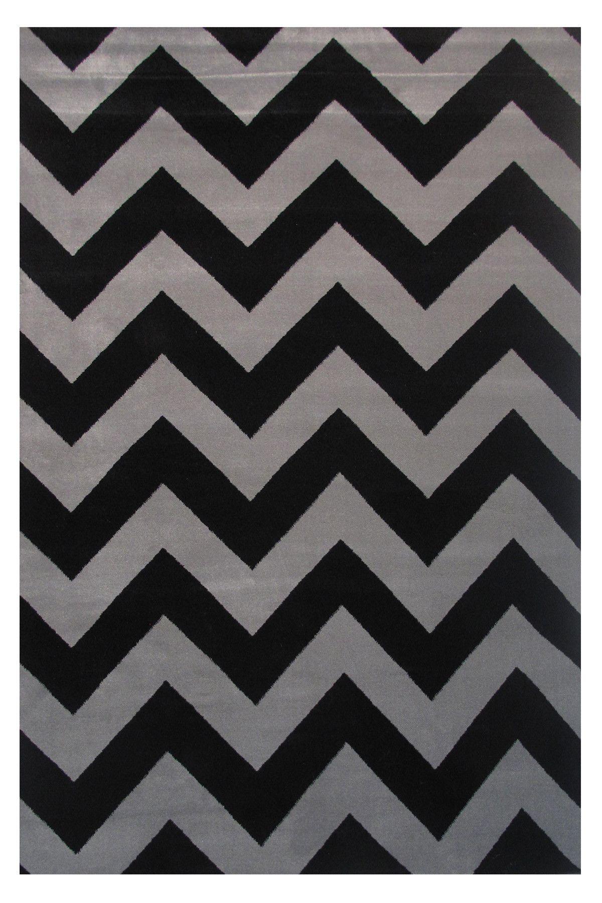 Botticelli Black/Gray Area Rug