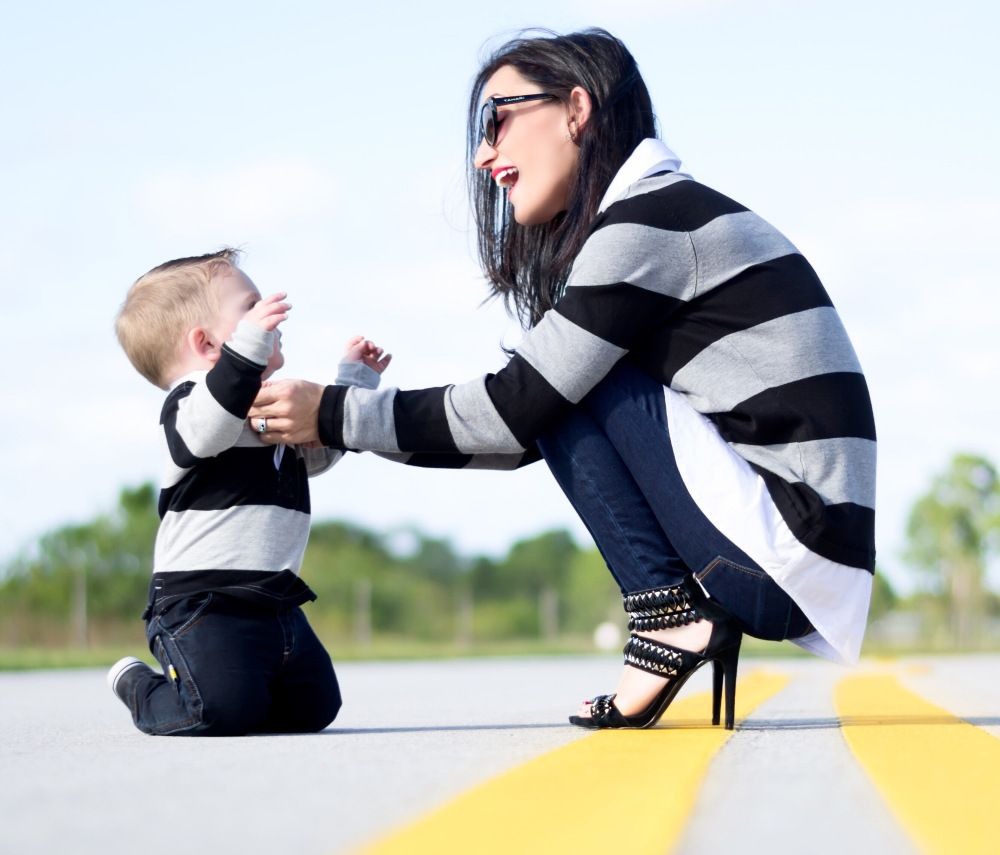 Mommy and me matching outfits, son / baby boy | Mamãe de ...