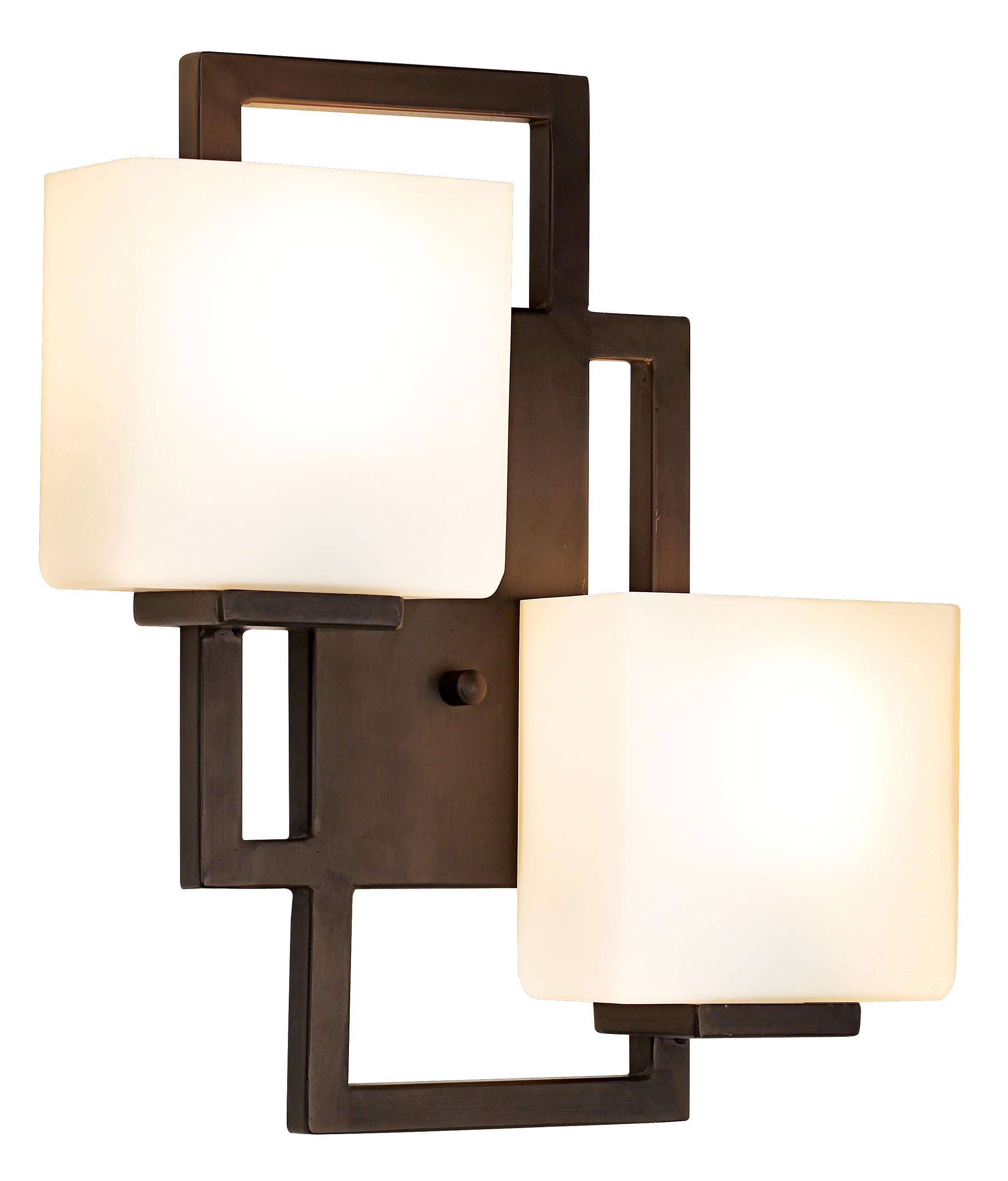 Lighting on the square 15 1 2 high bronze wall sconce living room
