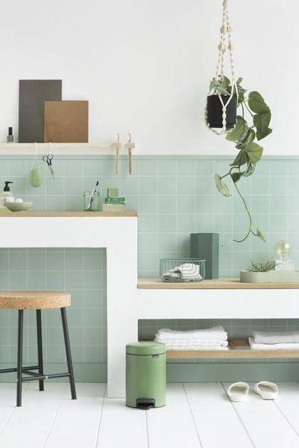 On adore l\u0027atmosphère très douce de cette salle de bain avec son
