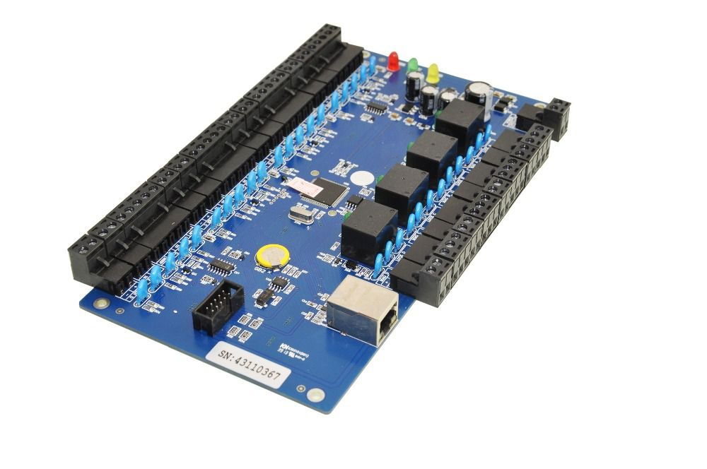 TCP/IP Network Access Control Board Four Door Two Ways SIZE 215 MMX130MM Remotes  Open Door Fire Protection
