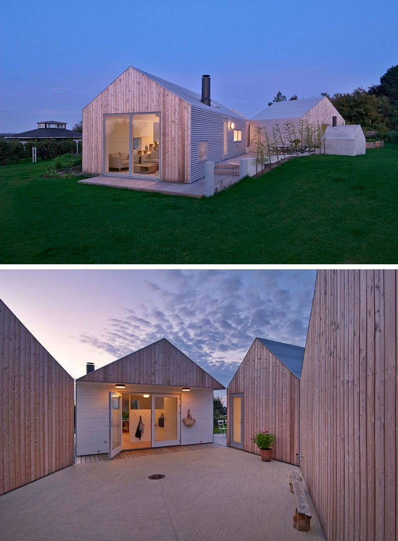 19 Examples Of Modern Scandinavian House Designs The Five Separate Buildings That Make Up This Home All Fe Scandinavian Home Modern House Design House Design