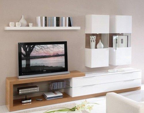 Beyaz Parlak Lake Modern Tasarimli Tv Unitesi Modeli Ev Icin Oturma Odasi Tasarimlari Mobilya