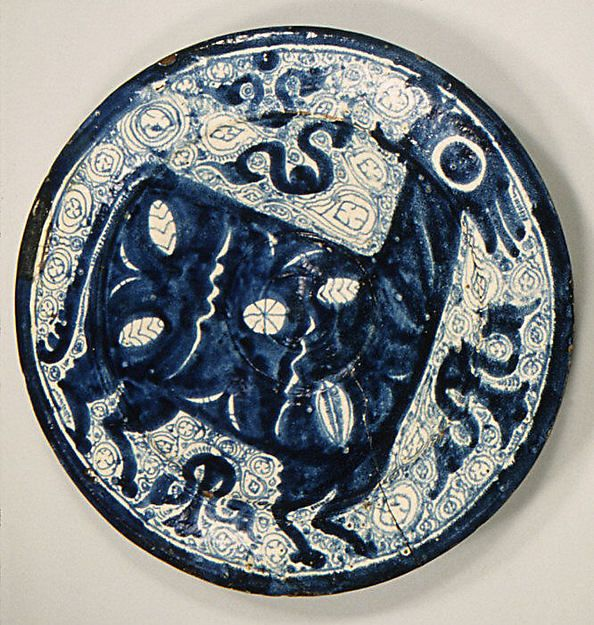 Plate Date 16th Century Culture Spanish Aragon Teruel Medium Tin Enameled Earthenware Dimensions H 3 1 2 In Antique Ceramics Ancient Pottery Ancient Art