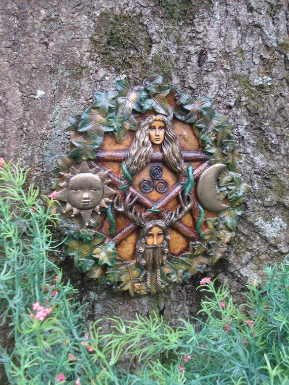 Pagan Plaque Fairy Garden Spiritual Ritual Unique Gifts