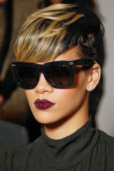 Rihanna With The Dark Lip Brown Ladies Dont Be Afraid To Try Blood Red Color