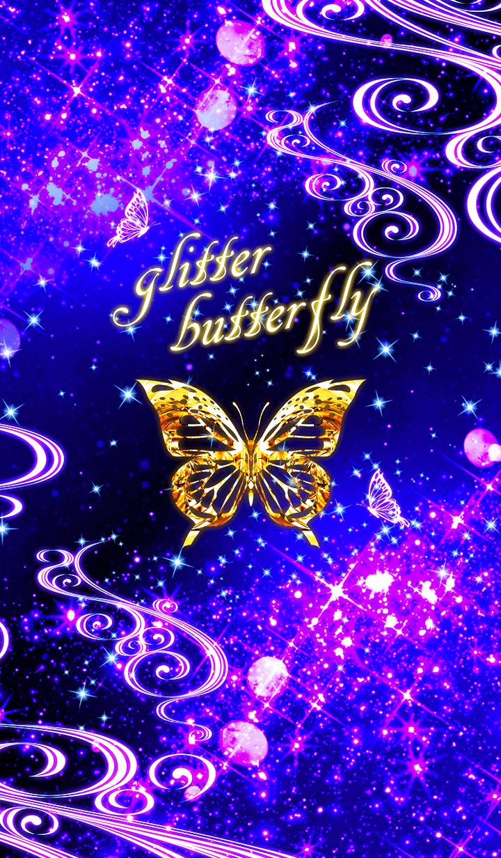Glitter butterfly -gold | Butterfly wallpaper, Glitter ...