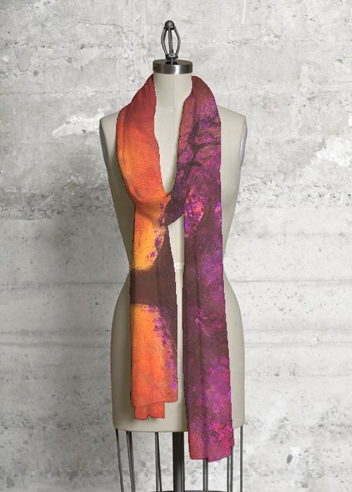Modal Scarf - Abstract Pond Scarf by VIDA VIDA zz50cq