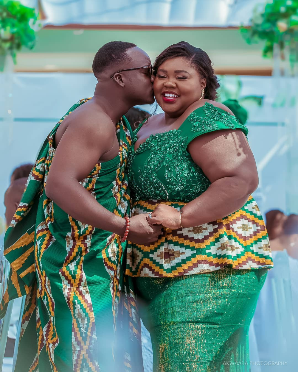 A Ghanaian groom and his plussize bride have gone viral