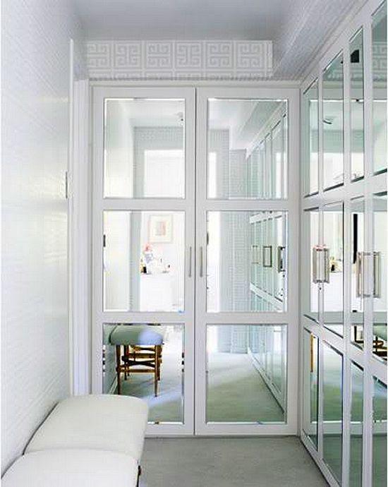 Mirror Mirror On The Doors Mirrored Walk In Closet Doors Mirror Closet Doors Closet Door Makeover Doors Interior