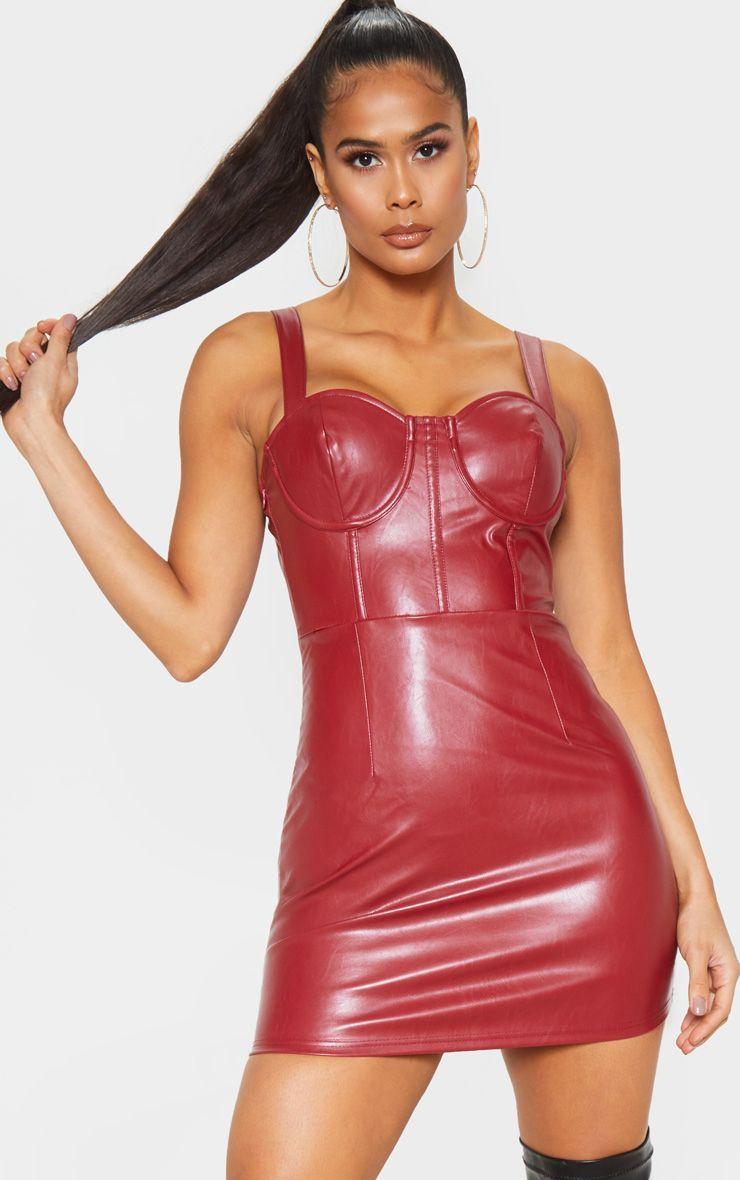 Oxblood Faux Leather Sleeveless Bodycon Dress Sleeveless Bodycon Dress Bodycon Dress Leather Bodycon Dress [ 1180 x 740 Pixel ]