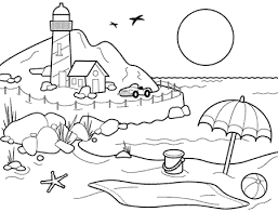 summer color pages: summer beach coloring pages | Color Contest ...