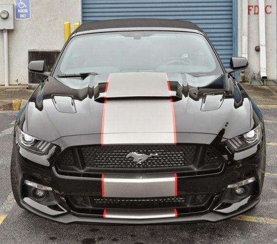 Black Mustang Silvers: 2015 Black Mustang Convertible Roush Stage 2