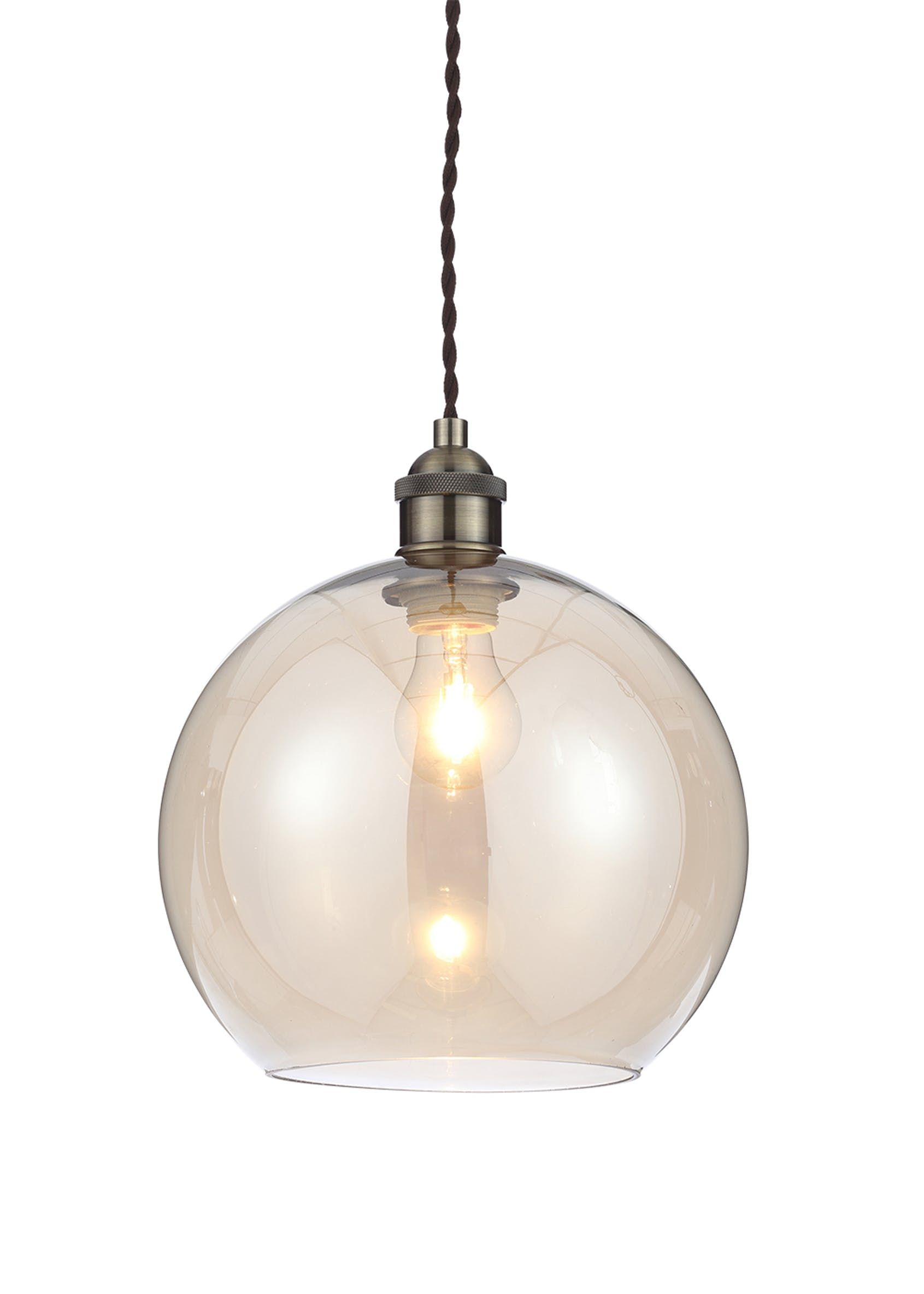 Gaspra Glass Pendant Light H31 100cm X W25cm Clear Glass
