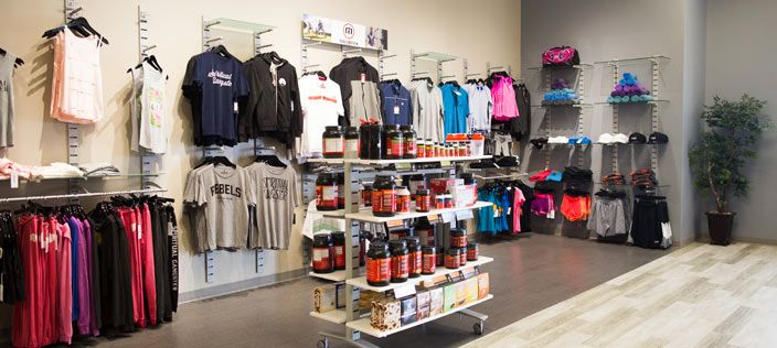 great new sports clothing display at mountainside fitness on walls insulated coveralls on sale id=66621