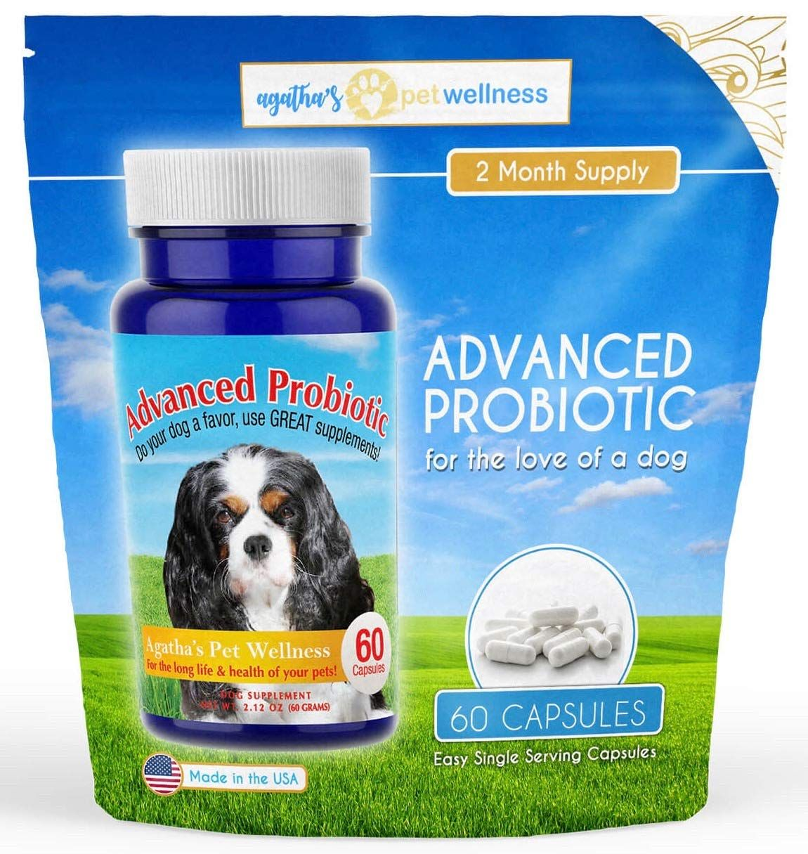 Agatha S Advanced Probiotics For Dogs C 2 Month Supply N 15