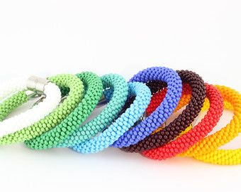 Bead Loom Bracelet Christmas Gifts For Mother Mom by PINKBLUEART