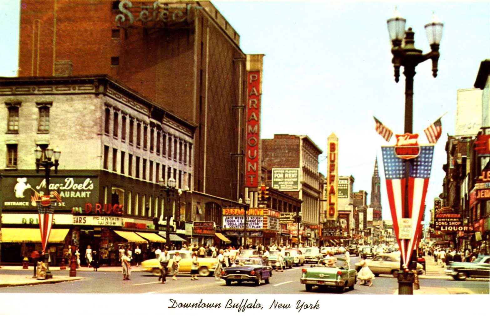 Downtown Buffalo Ny Circa 1950 S Buffalo New York New York