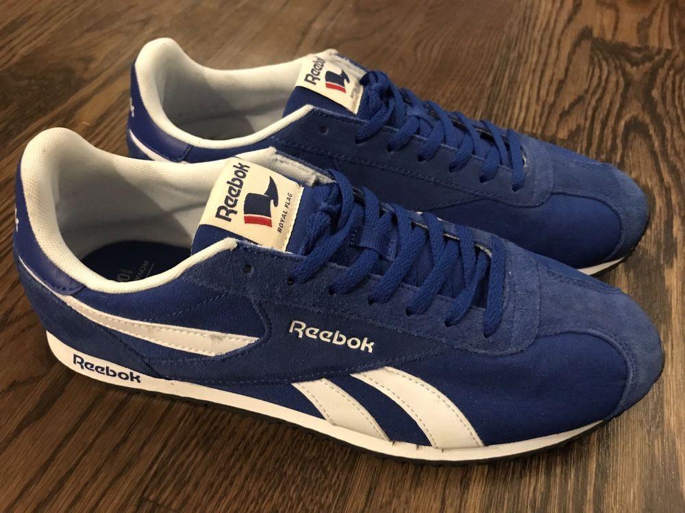 half off f7b44 5d85d Reebok Royal Flag Blue Shoes Men Size 9.5M  Reebok  RunningShoes