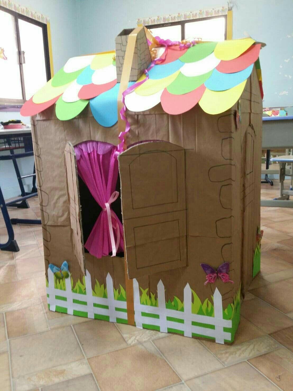بيت كرتون داون سندروم Creative Crafts Crafts Kids House