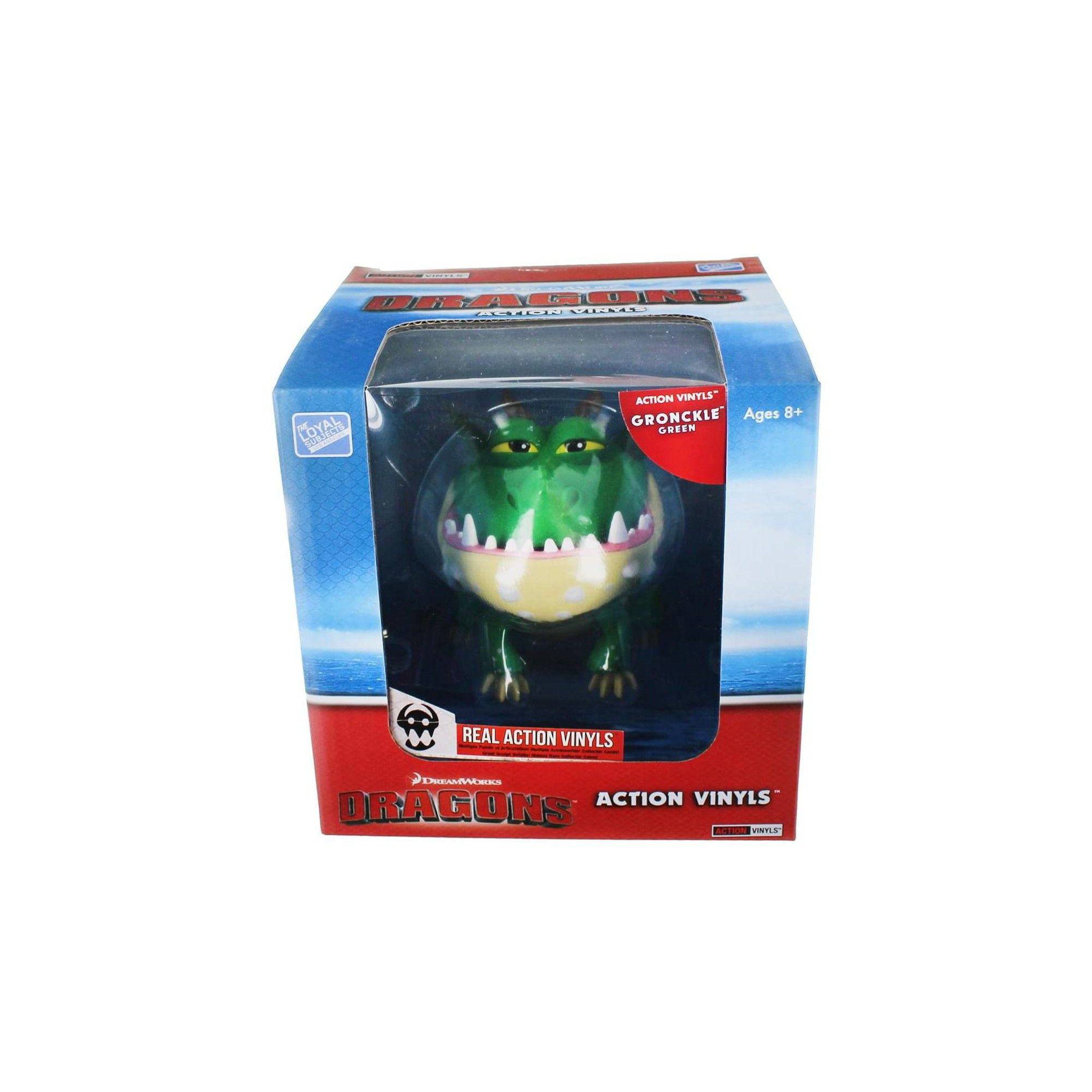 """Gronckle How To Train Your Dragon 6/""""-7/"""" Action Vinyl Green"""