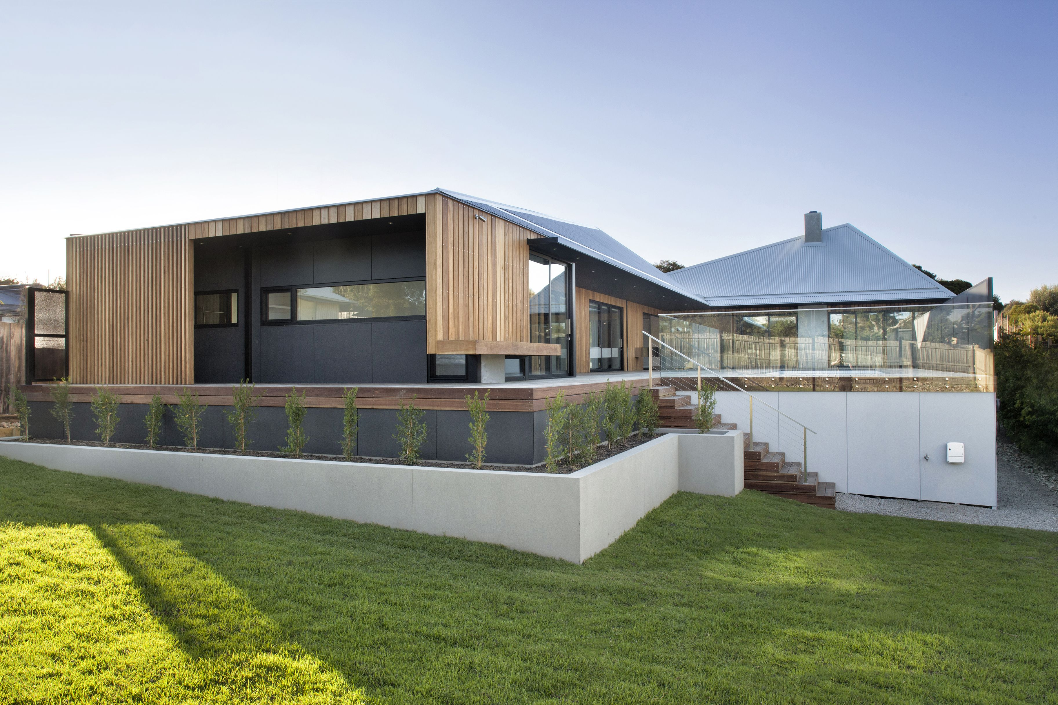 Vibe Design Group  Sorrento House 1 Timber Battening Twists