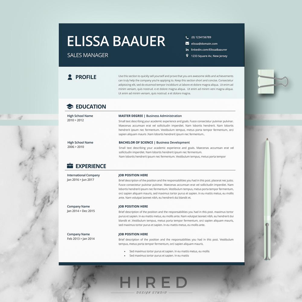 msword modern resume template