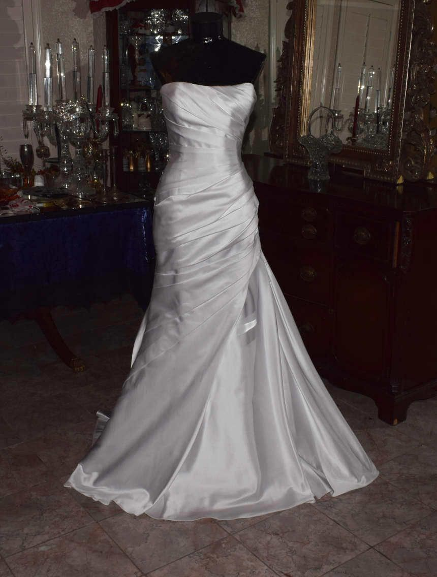 Cool amazing w white one by watters bridal gown wedding dress size