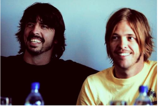 Dave Grohl and Taylor Hawkins from Foo Fighters in Iceland