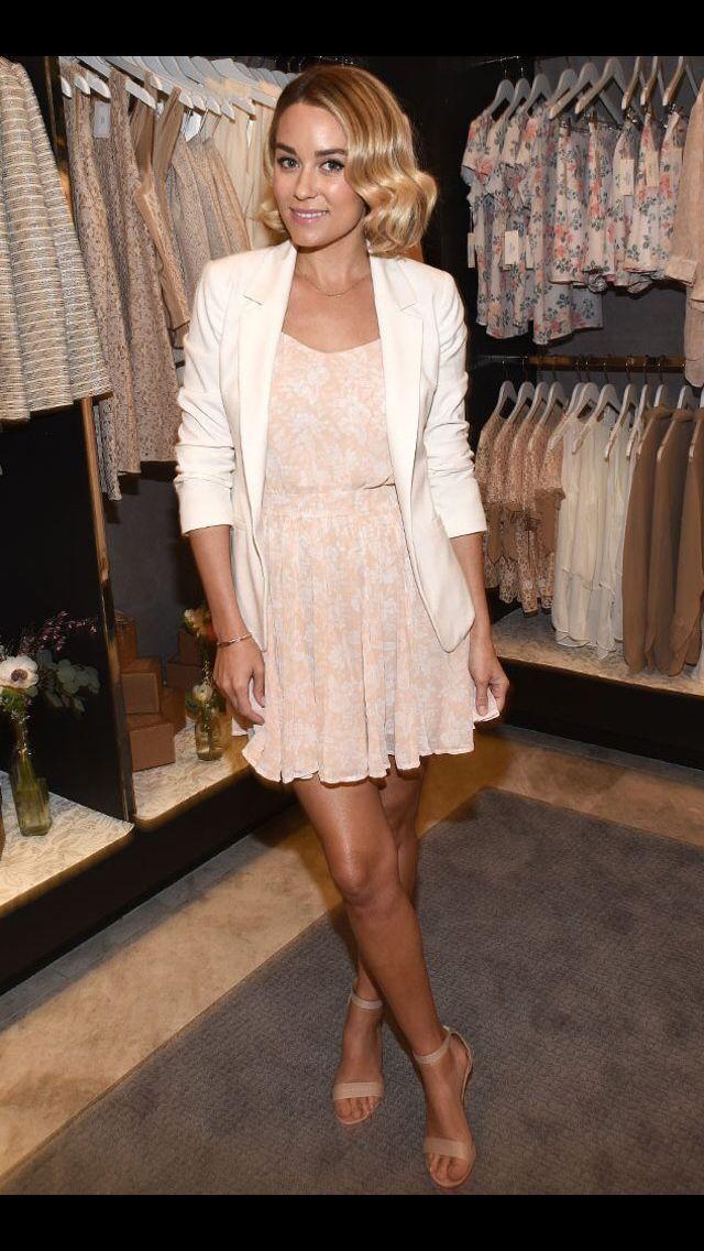 Lauren Conrad - pink dress and white blazer | Fashion | Pinterest ...