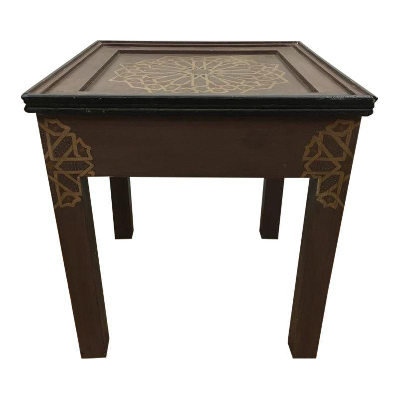 Handmade Hand Painted Moroccan Side Table Moroccan Side Table Table Square Side Table