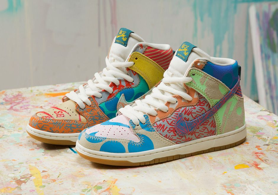 "Nike SB has teamed up with California-bred artist Thomas Campbell for a  ""What The"" style SB Dunk release commemorating his signature works over the  years."