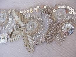 beaded embroidery detail - Google Search