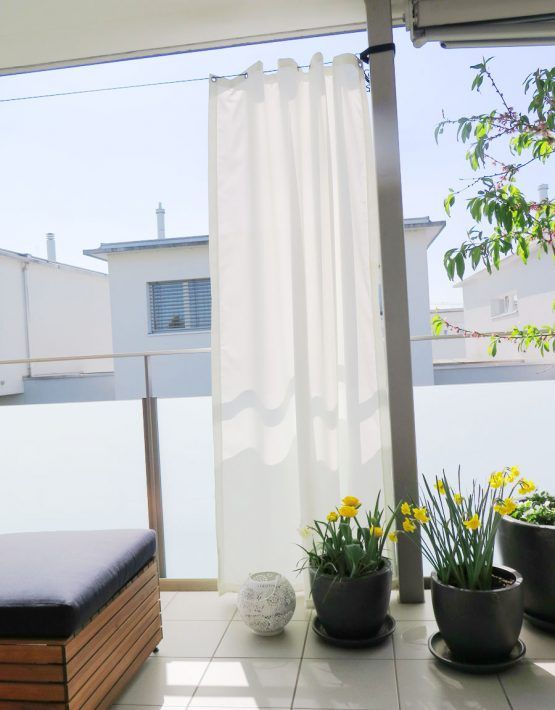 Outdoor-Vorhang SANTORINI nach Mass [weiss]   vorhang123.at