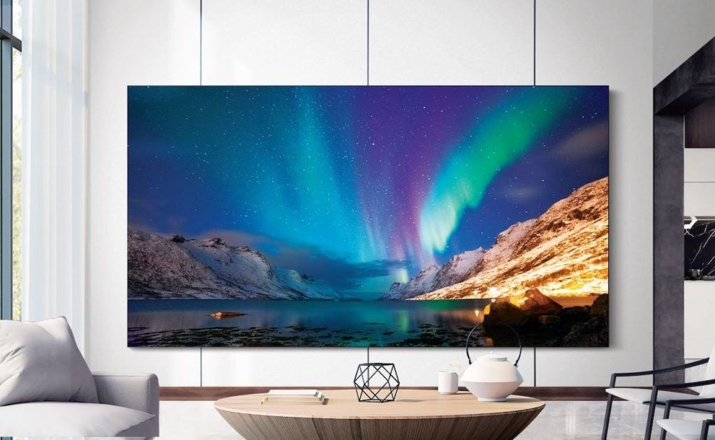 Samsung The Wall Microled Modular Tv Fills Your Living Space With