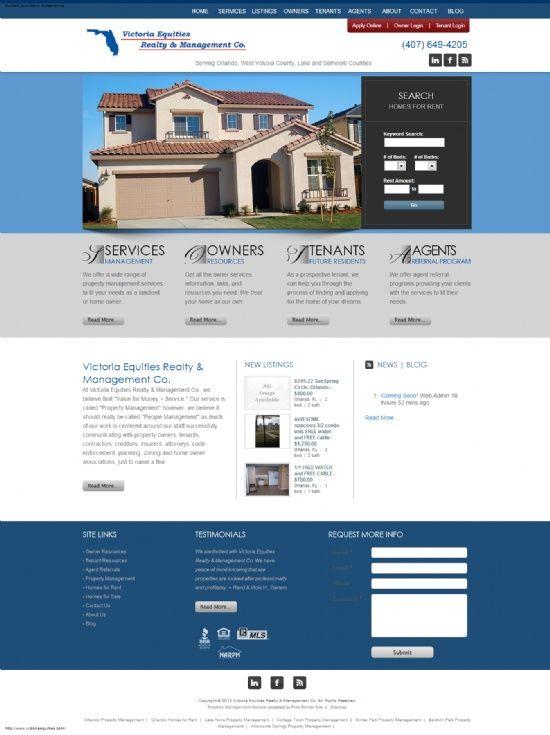 New Property Management Website!!! Victoria Equities Realty - property management websites templates
