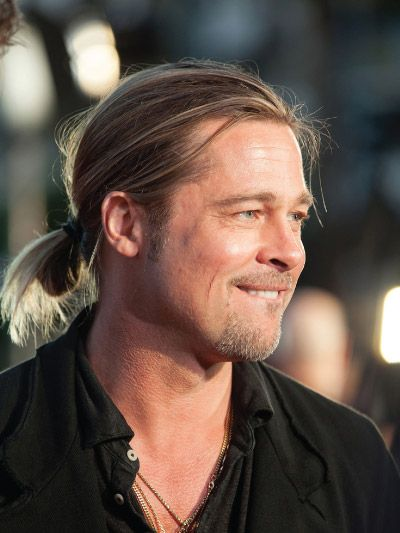27 Handsome Brad Pitt S Hairstyles Man Ponytail Long Hair Styles Men Men S Long Hairstyles