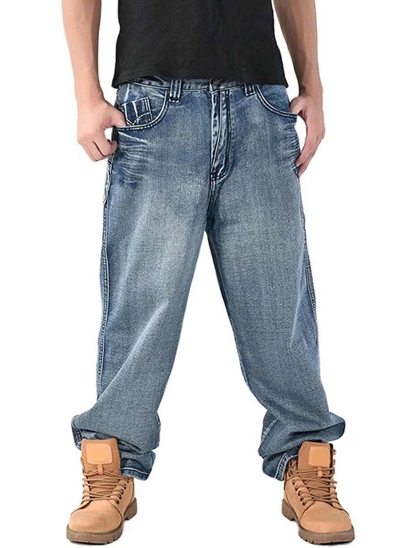 Skater G Hip Hop Star Loose Fit Rocawear Is Money Time Men/'s Designer Jeans