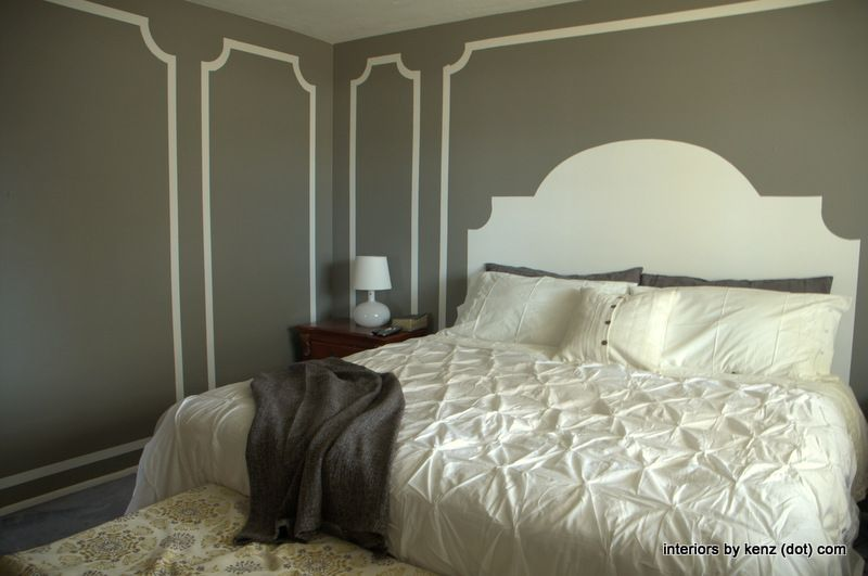 Master Bedroom Faux Molding Makeover