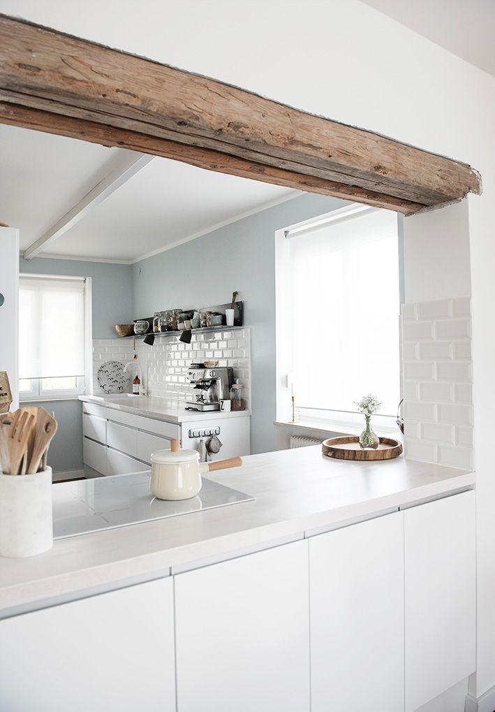Ein Hauch von Blau via apinchofstyle ähnliche tolle Projekte - ideen für küchenwände