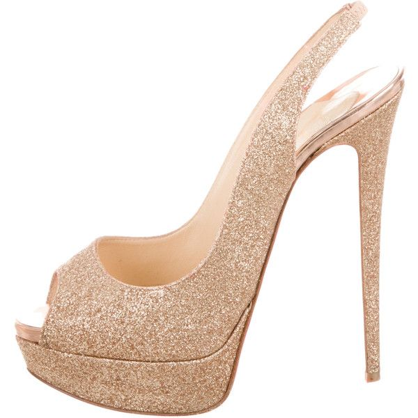 Pre-owned - Lady Peep heels Christian Louboutin