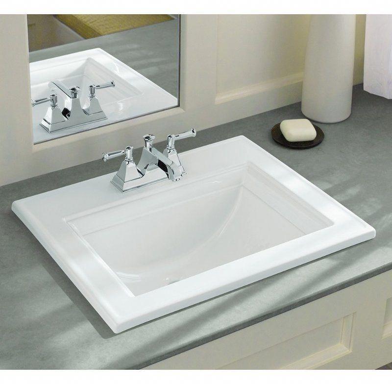 Memoirs Ceramic Rectangular Drop In Bathroom Sink With Overflow