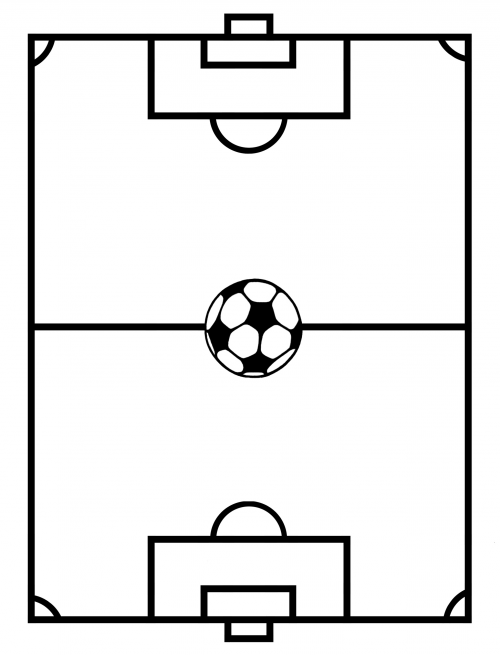 Coloring Pages Of Soccer Field Coloring Pages